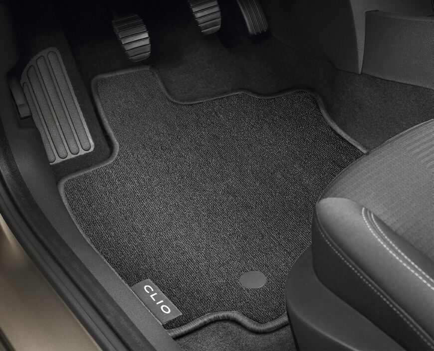 genuine renault clio iii 2005 2014 tailored carpet floor mat set x4 front rear ebay. Black Bedroom Furniture Sets. Home Design Ideas