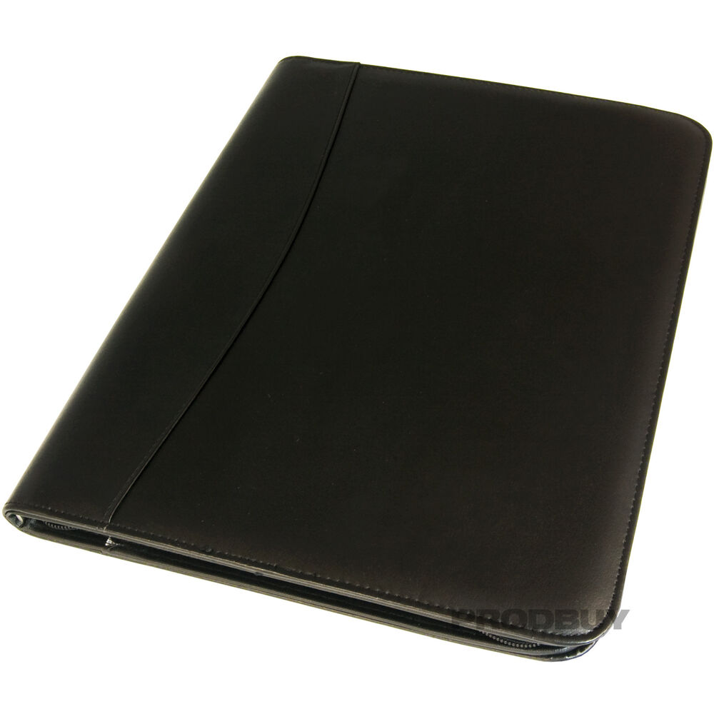 a4 zipped conference folder executive business faux With leather document folder