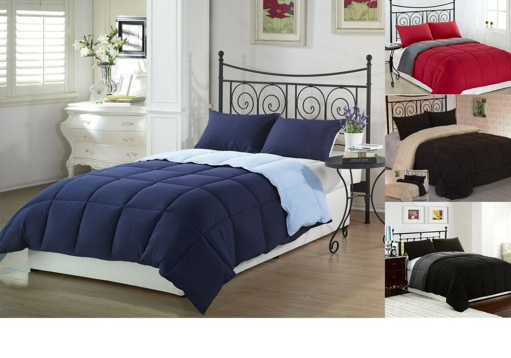 down alternative comforter king queen full size comforters available ebay. Black Bedroom Furniture Sets. Home Design Ideas