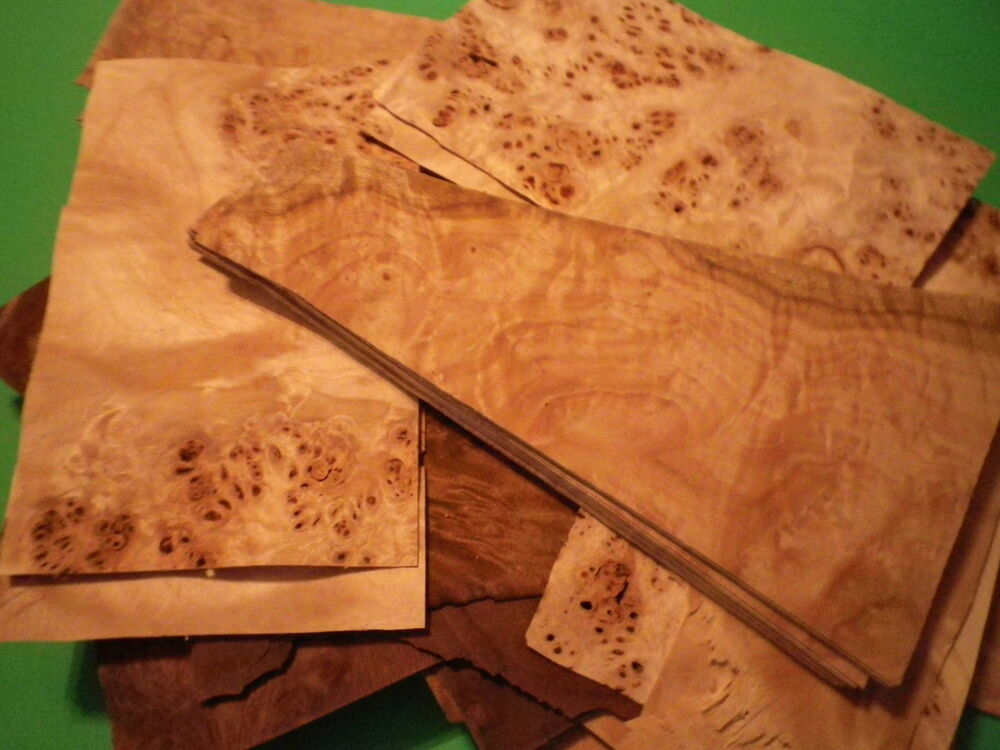 Wood veneer mixed burl small pieces for art and crafts 50 for Wood veneer craft projects