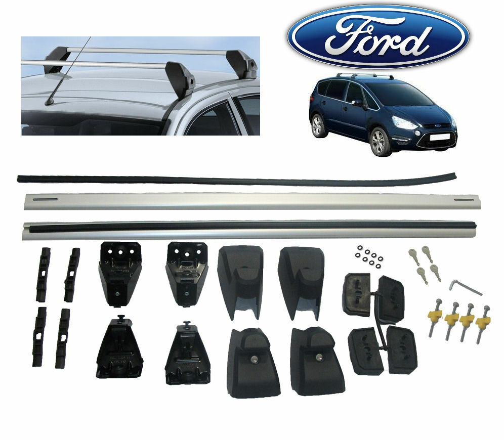 new genuine ford smax s max roof bars roof rack 2006 onward with panoramic roof ebay. Black Bedroom Furniture Sets. Home Design Ideas