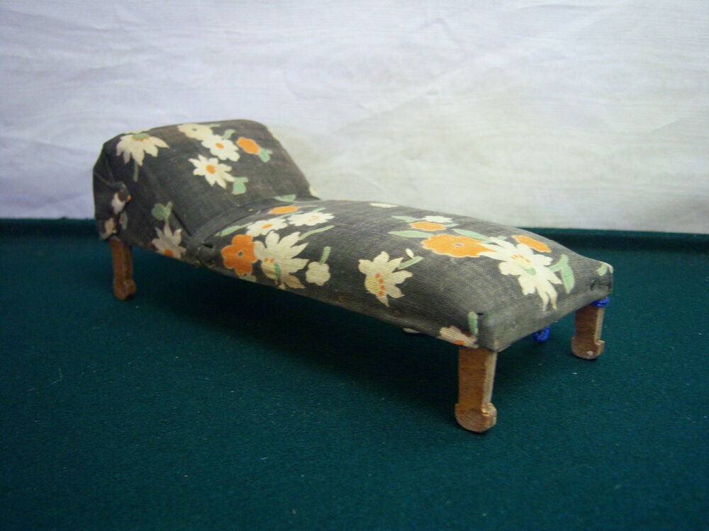 Dollhouse miniature fainting couch chaise lounge sofa for Antique chaise lounge ebay