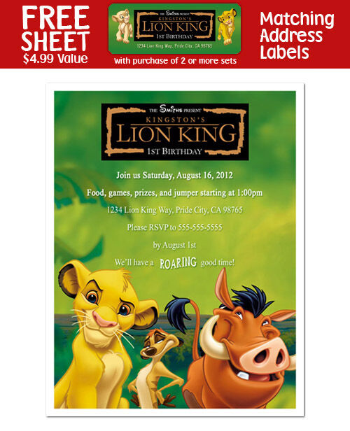 Lion King Invitation for awesome invitation design