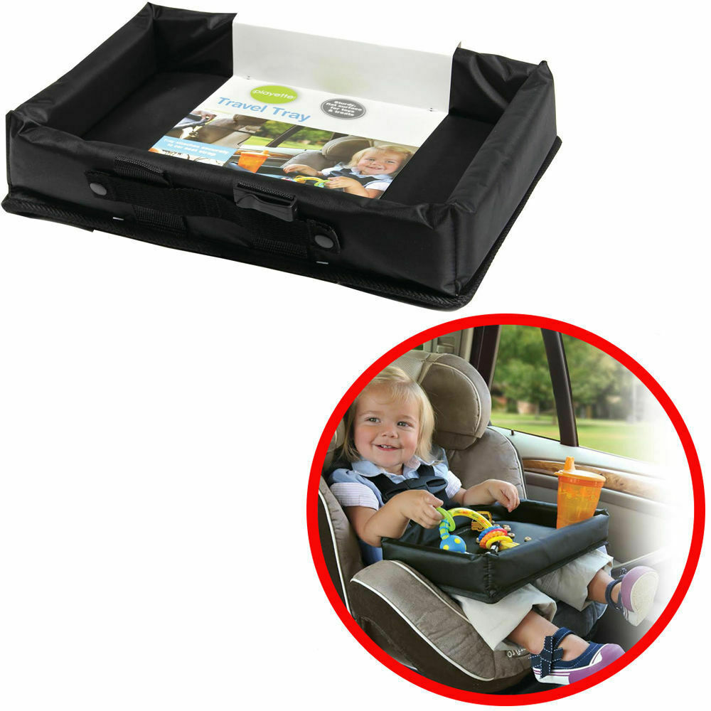 1355380 travel tray for car seats or boosters car accessory for snack toys play ebay. Black Bedroom Furniture Sets. Home Design Ideas