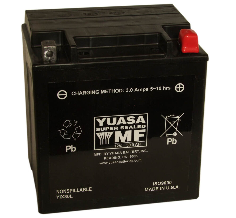 genuine yuasa yix30l bs 12v harley davidson motorbike motorcycle battery ebay. Black Bedroom Furniture Sets. Home Design Ideas
