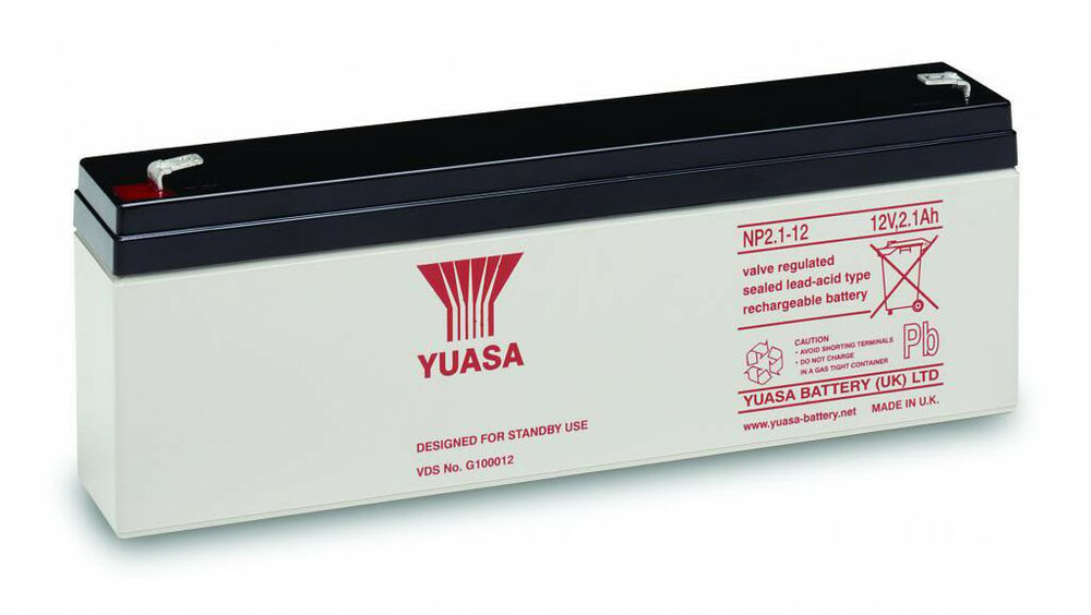 np2 3 12 yuasa 2 3ah 12v lead acid alarm battery ebay. Black Bedroom Furniture Sets. Home Design Ideas