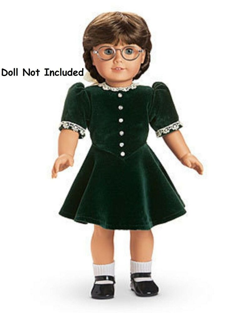 american girl molly 39 s christmas dress holiday velvet nib nrfb doll not included ebay. Black Bedroom Furniture Sets. Home Design Ideas
