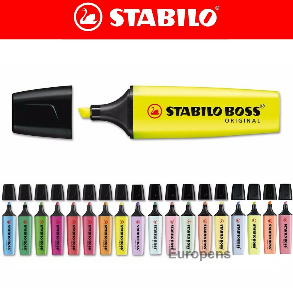 Stabilo Boss Original Highlighter Ink Pen Markers Choose
