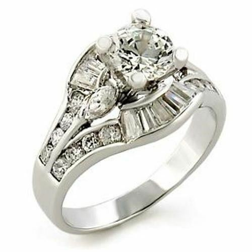 2 65ct Multi cut Womens Bridal Wedding Engagement Ring SIZE 5 6 7 8 9