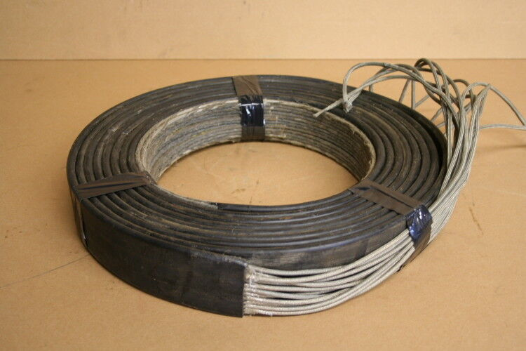 Flat Cable Shield : Braided stainless steel shielding flat festoon cable