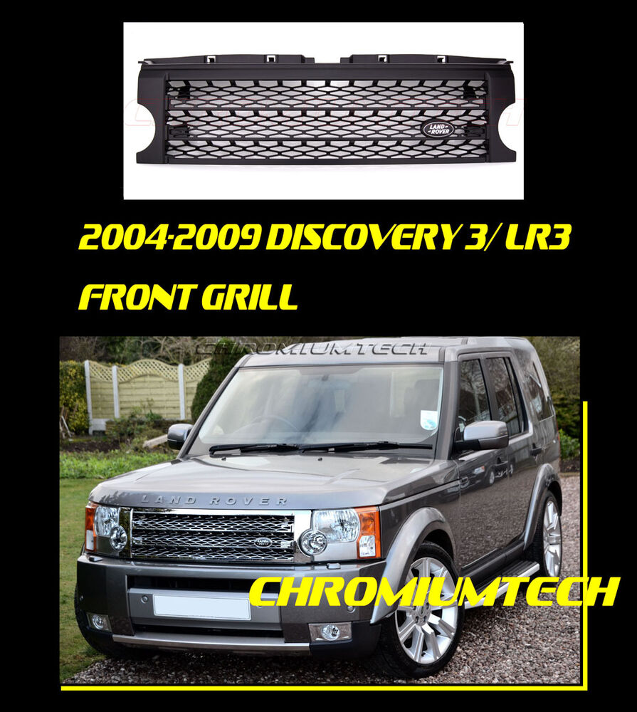 Sold Land Rover Discovery 3 Discov: 2004-09 DISCOVERY 3 LR3 BLACK Supercharged Style Grille W