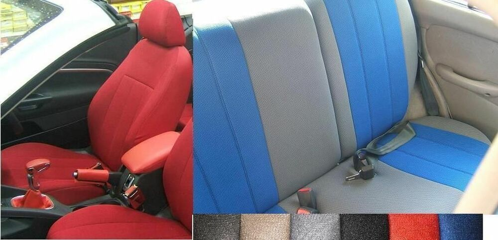 100 CUSTOM FIT FULL SET SYNTHETIC CAR SEAT COVERS For THE