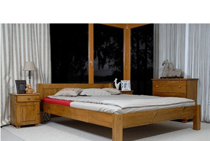 Nodax wooden king size bedframe 160x200cm european size for European beds for sale