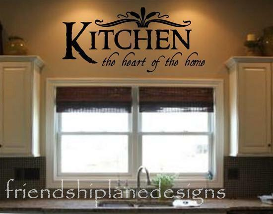 KITCHEN THE HEART OF THE HOME Vinyl Wall Decal/words