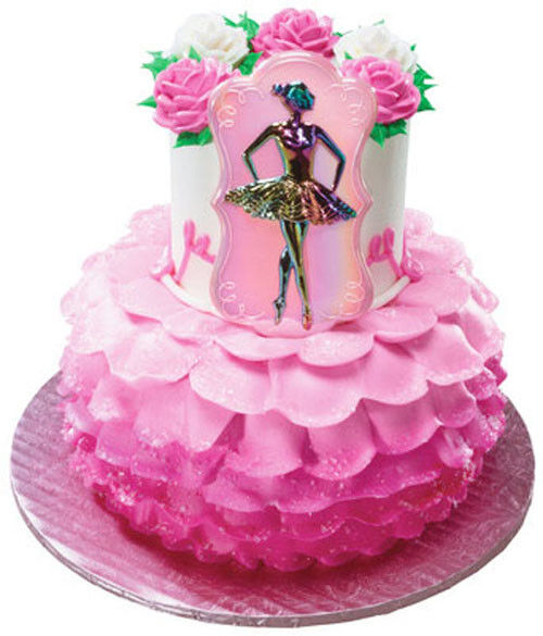 Ballerina plaque cake topper decoration party supplies for Ballet shoes decoration