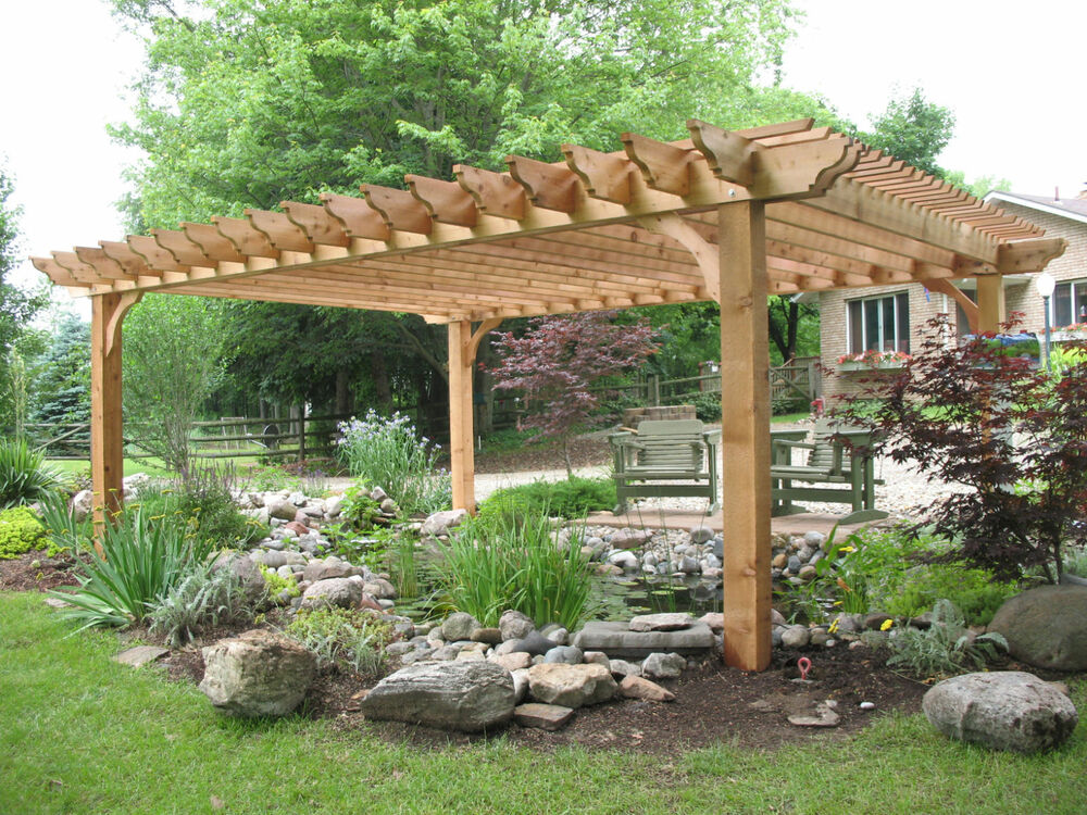 big kahuna pergola kit as seen on indoors out on diy network 8x8 20x20 ebay. Black Bedroom Furniture Sets. Home Design Ideas