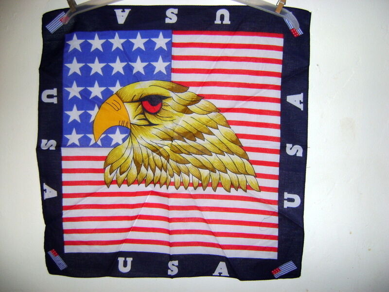 new FLAG & EAGLE RED, WHITE & BLUE MOTORCYCLE BANDANA SCARF HEADWEAR ...