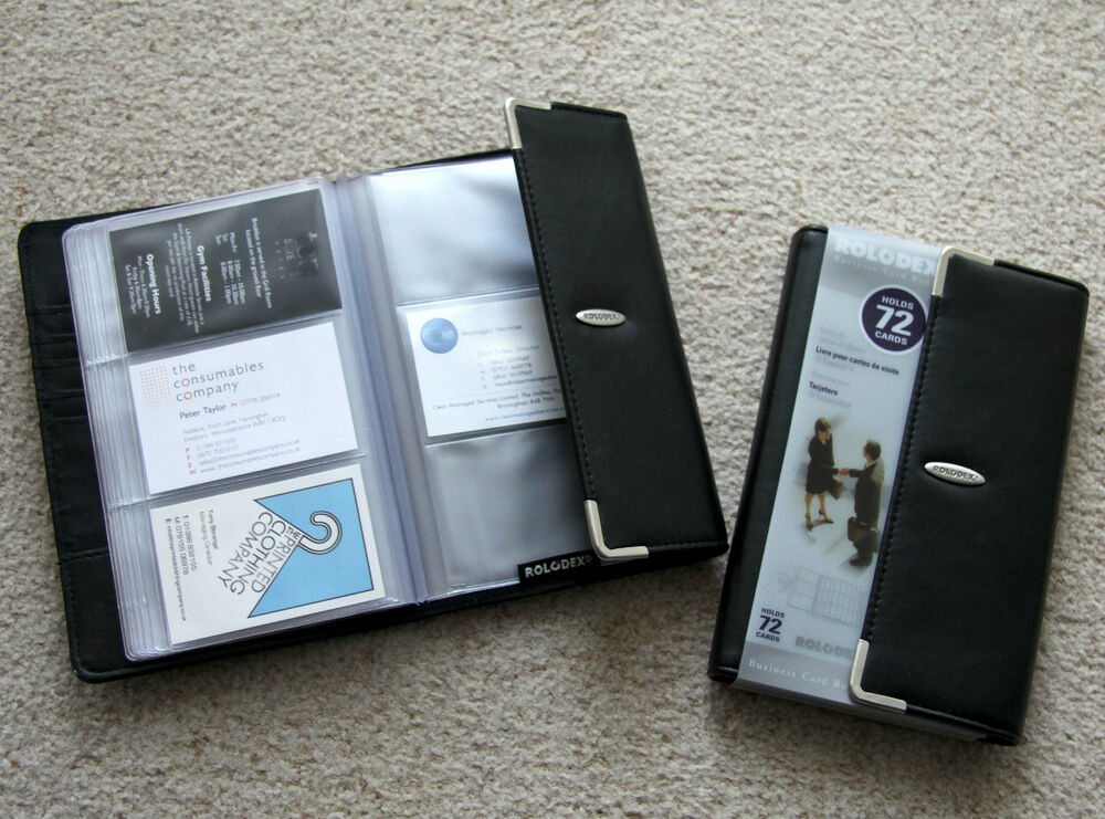 Rolodex luxury business card album organiser folder file wallet