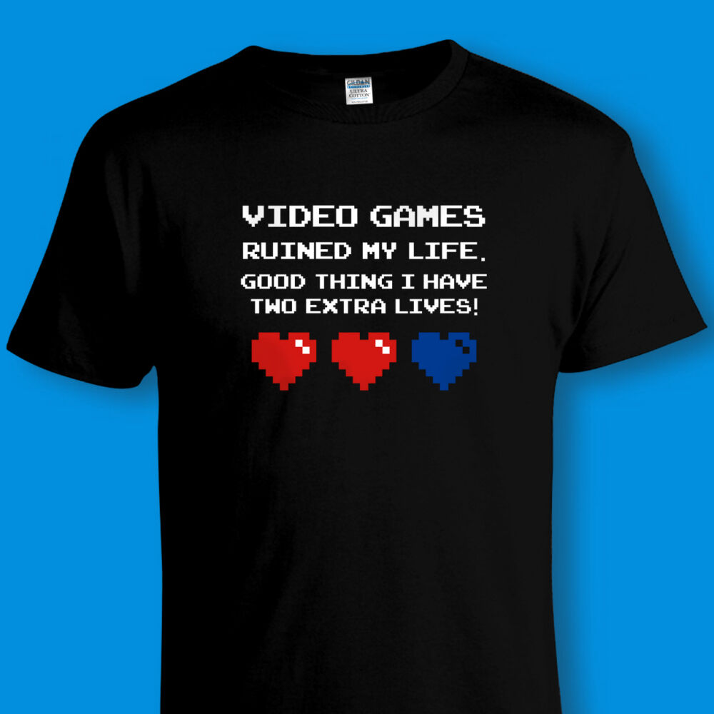 39a572e5c Details about FUNNY VINTAGE GAMING T-SHIRT Retro 80s Video Games PC Gamer  C64 Sizes to 4XL