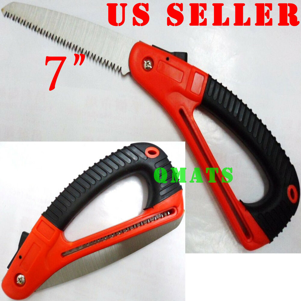 1 folding 7 tooth saw blade pruning camper safety lock for Heavy duty garden tools