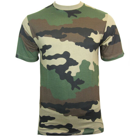 img-French CCE Camouflage T-Shirt - 100% Cotton Army Military Top All Sizes New