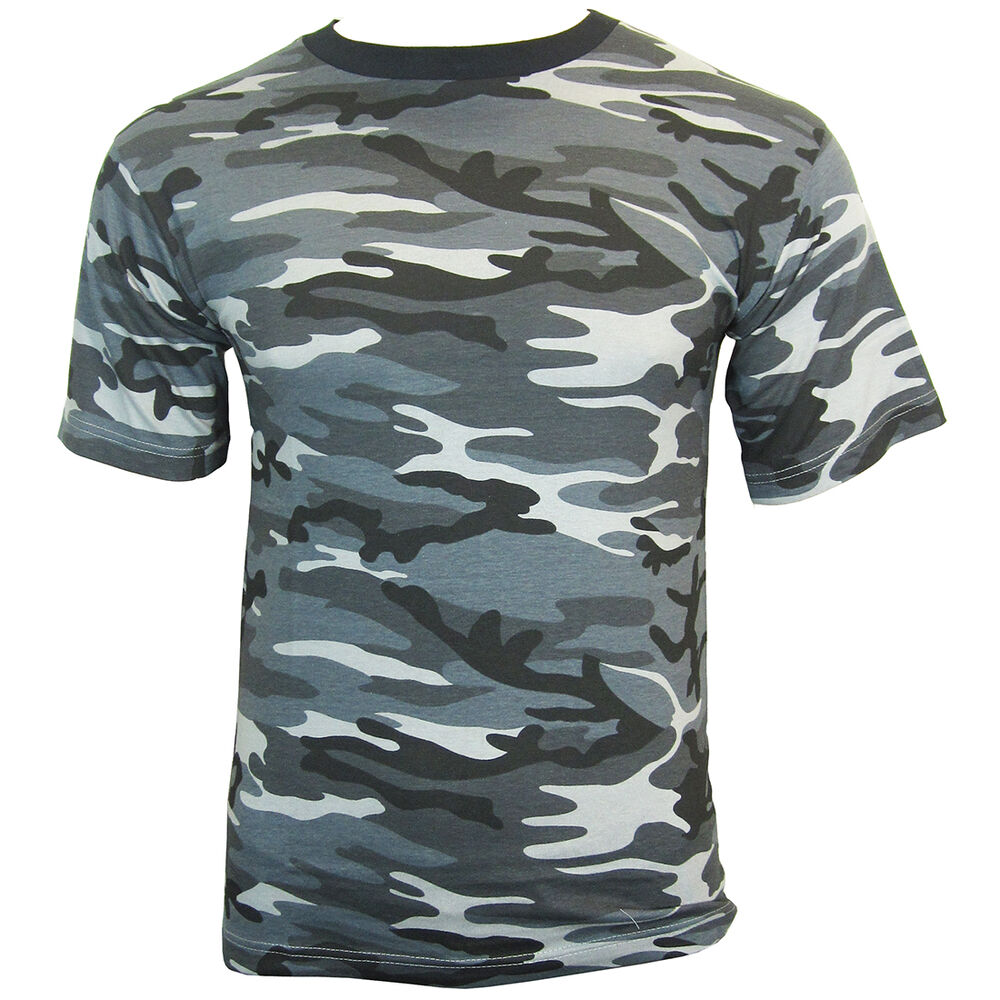 DARK CAMO Cotton Military T-Shirt - ALL SIZES
