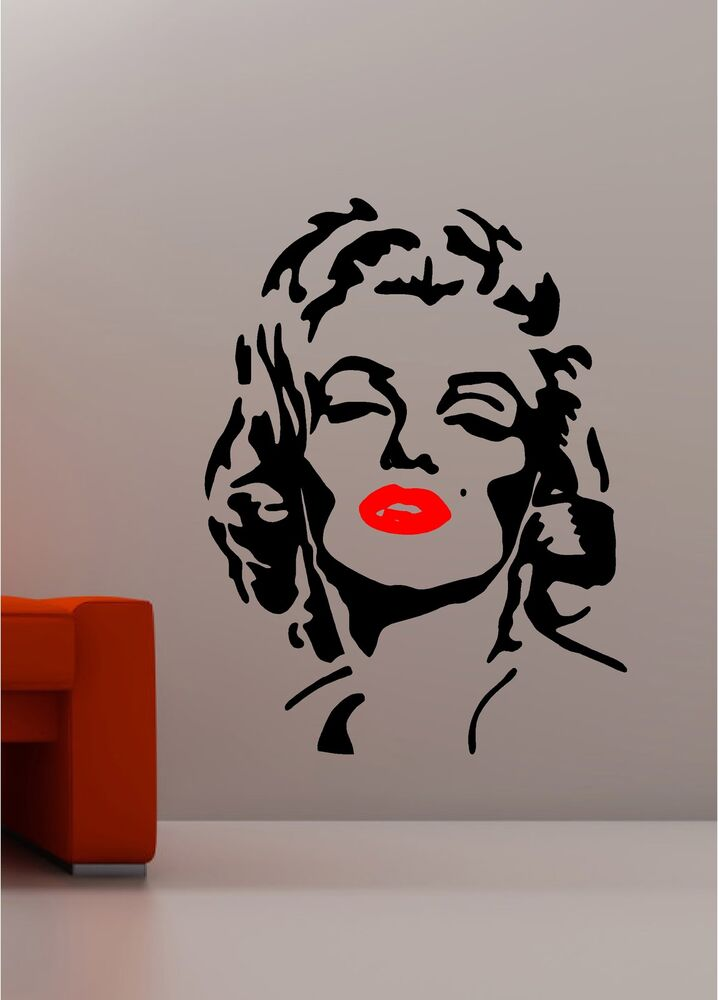 Marilyn Monroe Pop Art Wall Art Quote Sticker Vinyl