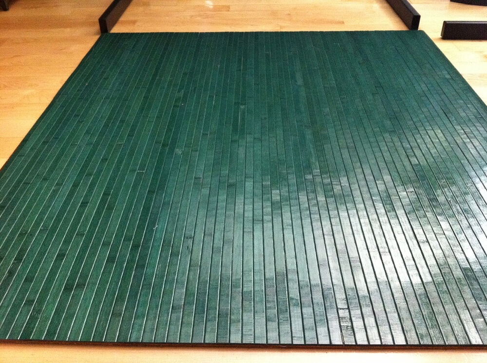 Bamboo chair mat office floor mat wood floor protector for Wood floor mat