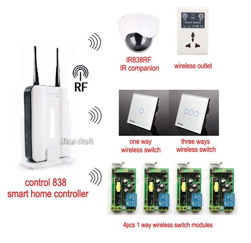 Control 838 Smart Home System Kit Iphone Android Pc