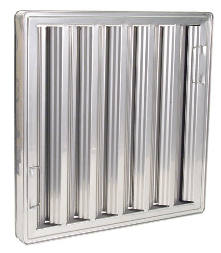 Exhaust hood grease filter baffle 20x20 chg nfpa approved for Commercial kitchen grease filters