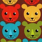 RETRO Print & Pattern FAT QUARTER Lion Cub FQ Font ROAR Bermuda ROBERT KAUFMAN