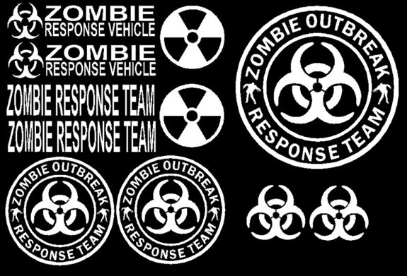 Zombie Outbreak Response Team Decal Vehicle Funny Car
