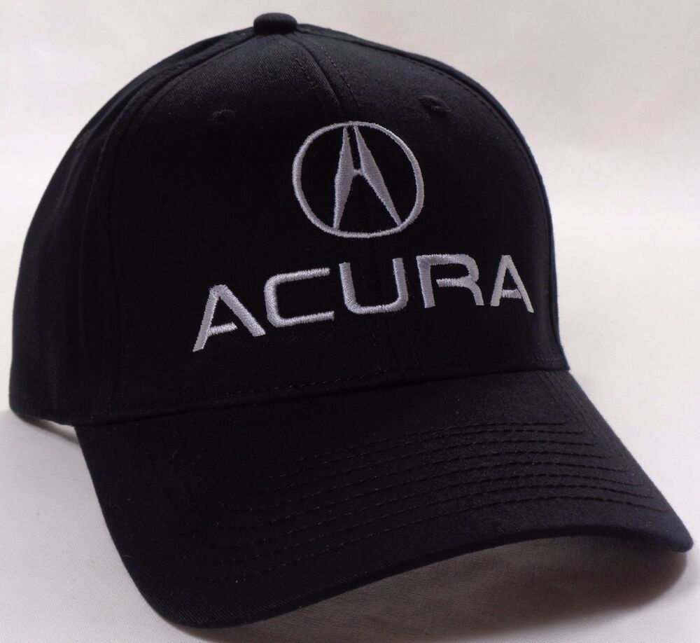 Hat Cap Flex Fitted Acura A Logo Black Small Or Large