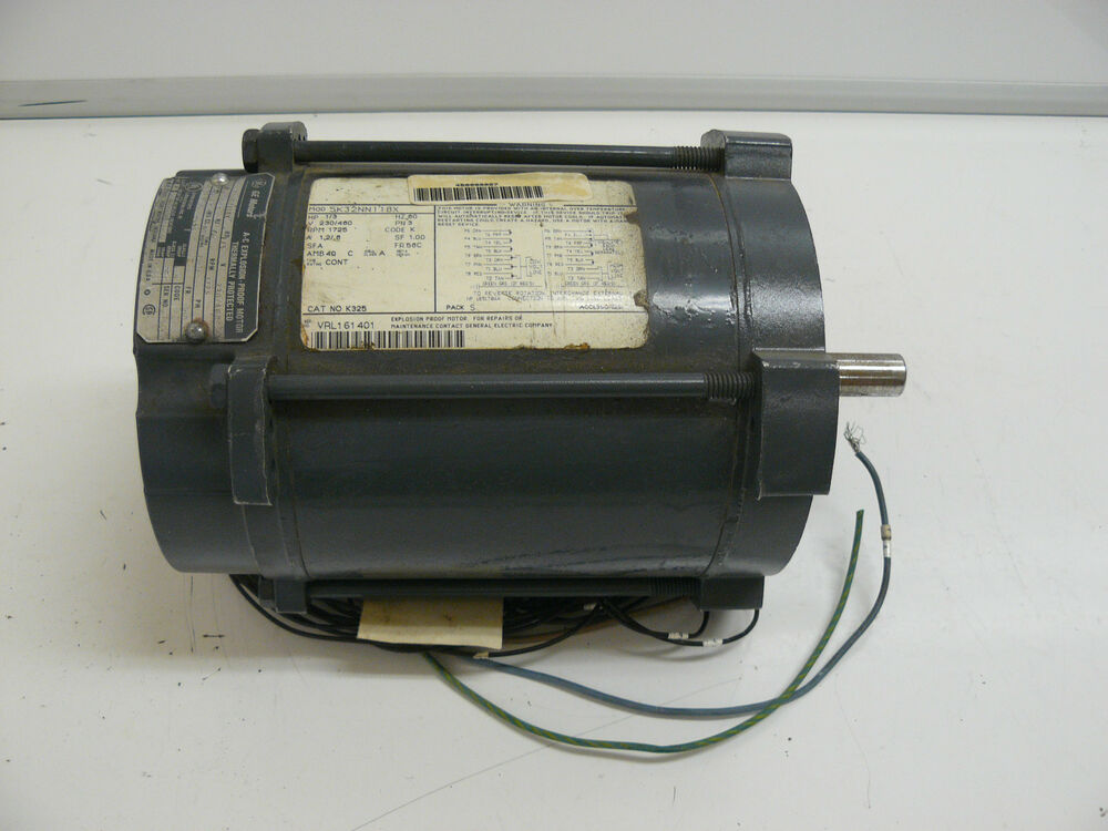 Ge motors 5k32nn118x ac motor 1 3 hp 1725 rpm 3 phase 230 for 3 phase motor hp to amps