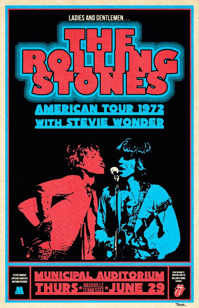 rolling stones 1972 tour poster ebay. Black Bedroom Furniture Sets. Home Design Ideas