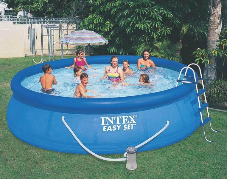 new intex 26165eh heavy duty 3 ply easy set up 15 39 x 42 swimming pool full kit ebay. Black Bedroom Furniture Sets. Home Design Ideas