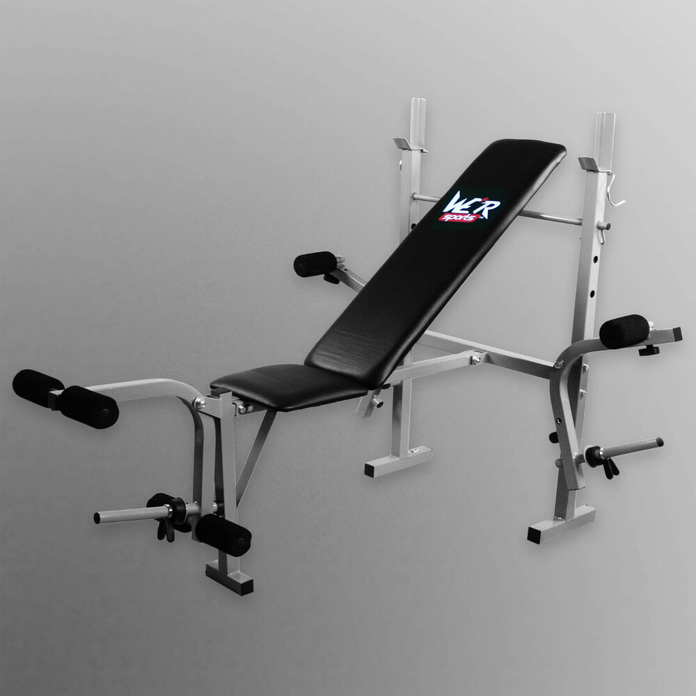 Folding Weight Bench With Weight Rack 3 Backrest Incline ...