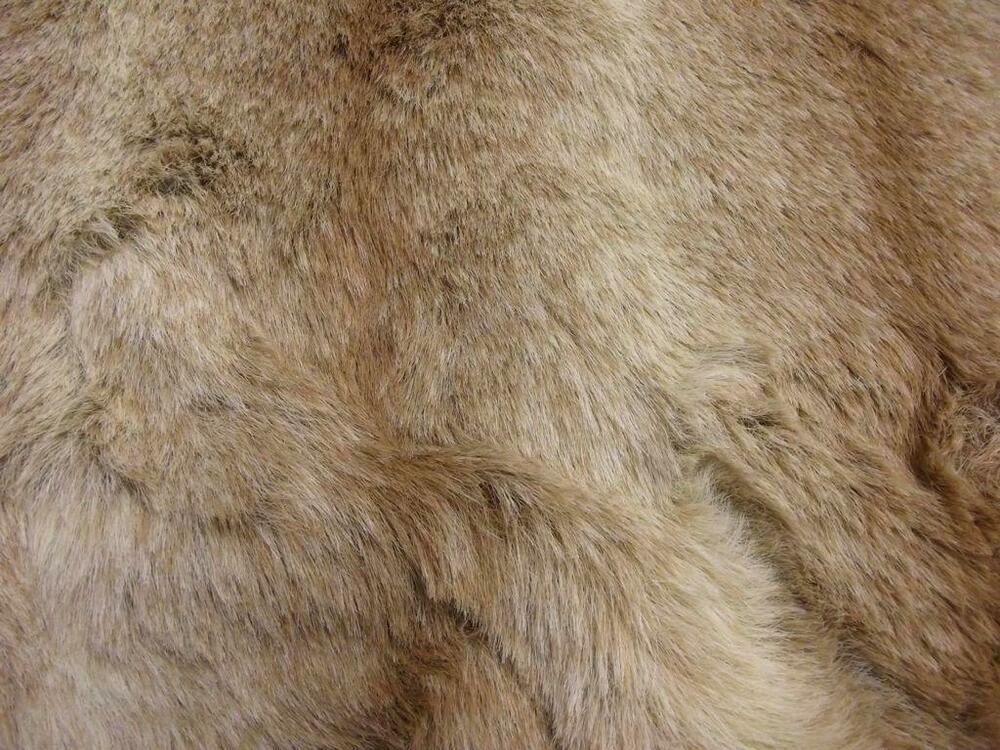 luxury animal faux fur fabric material brown ombre ebay. Black Bedroom Furniture Sets. Home Design Ideas