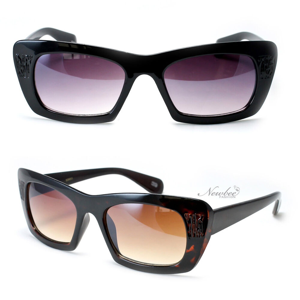Thick Cat Eye Sunglasses Frame Vintage Retro Style For