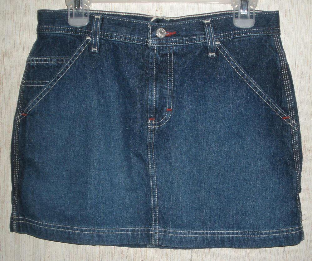 womens juniors blue jean skirt size 7 ebay