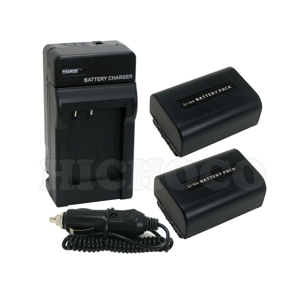 2 Battery Charger Combo Set For Sony Np Fv50 Np Fv40 Np