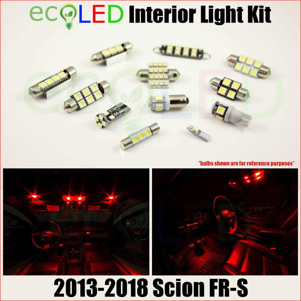 2013 scion fr s coupe red 12v interior led light bulb toyota frs ft 86 package ebay for Scion frs interior accessories