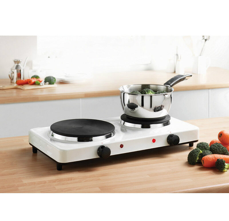Electric Cooking Plate ~ W portable double twin electric hot plate cooking hob