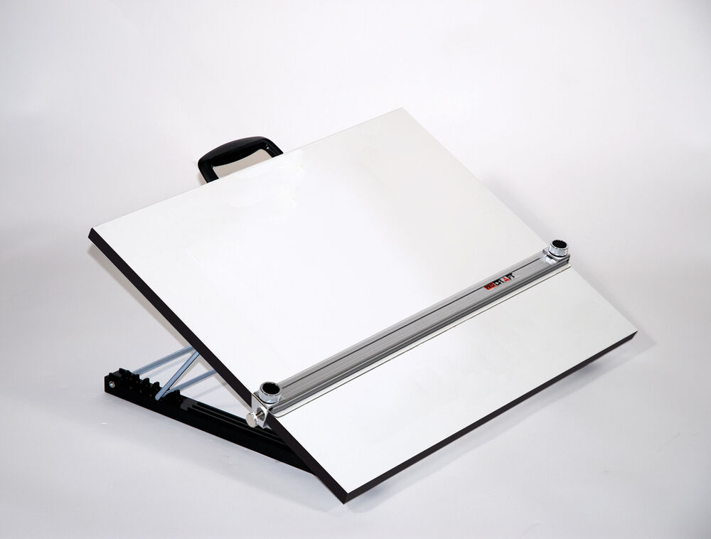 Adjustable Angle Portable Drafting Table With Straightedge