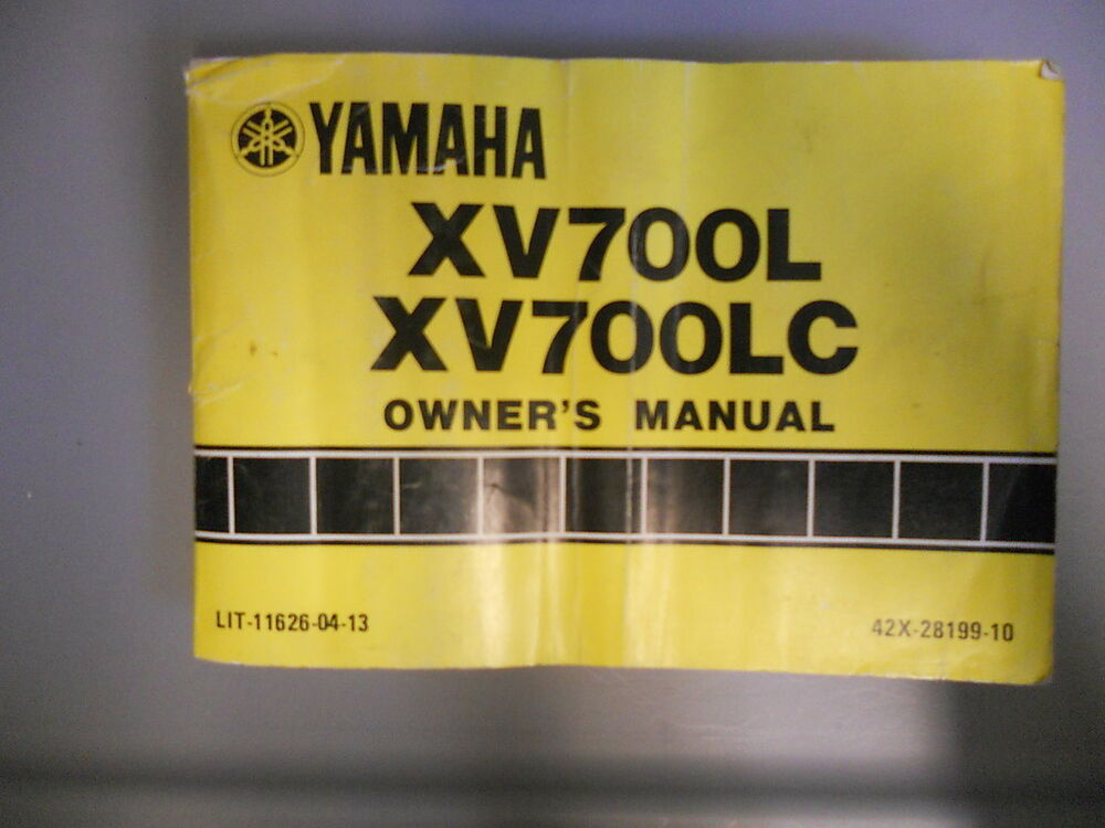 yamaha factory owners manual 1984 xv700 l xv700 lc ebay xv1000 wiring diagram ford 900 wiring diagram