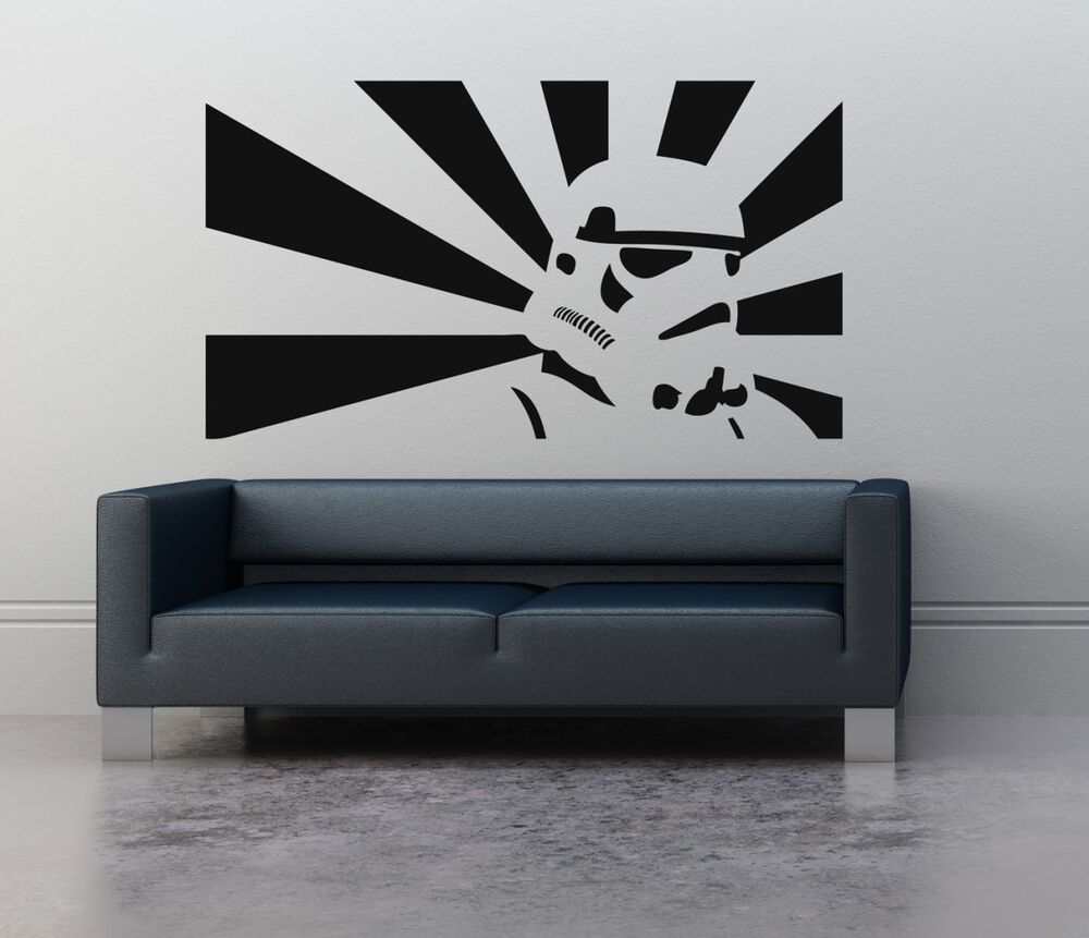 Wall art sticker transfer bedroom lounge storm trooper for Mural star wars