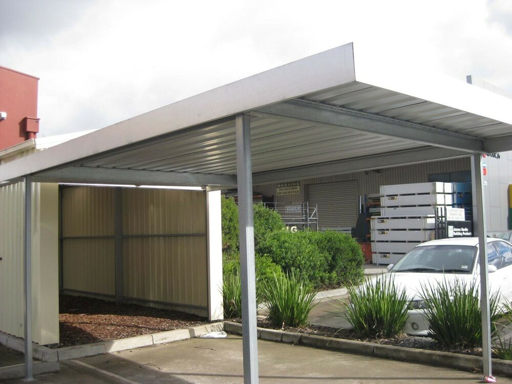 New buildpro zinc carport verandah patio pergola shade for Carport deck