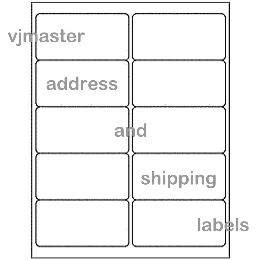 shipping labels 10 per page