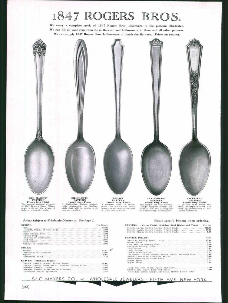 Date and pattern for this 1847 Rogers Bros. flatware