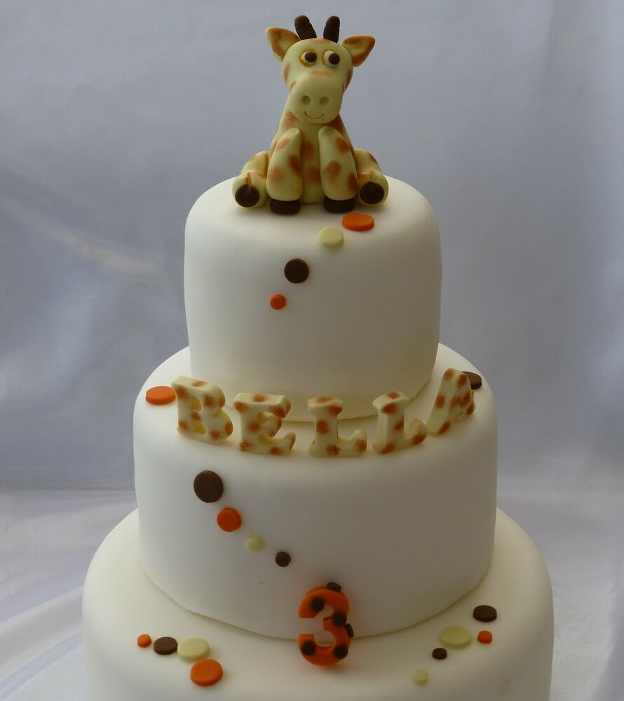 Ultimate edible sugar giraffe letters number spots for How to make edible cake decorations at home